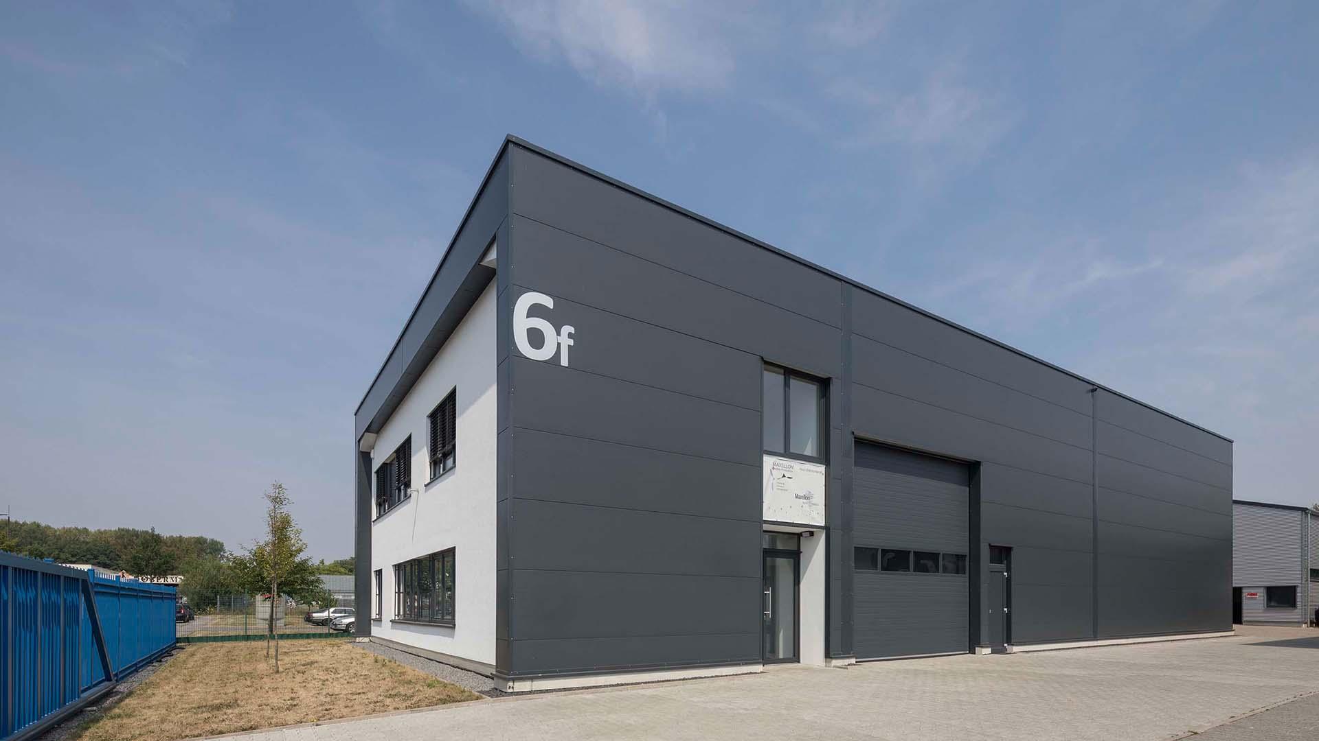 HU6f, Neubau eines Büros und Lagergebäudes, Stahlkonstruktion