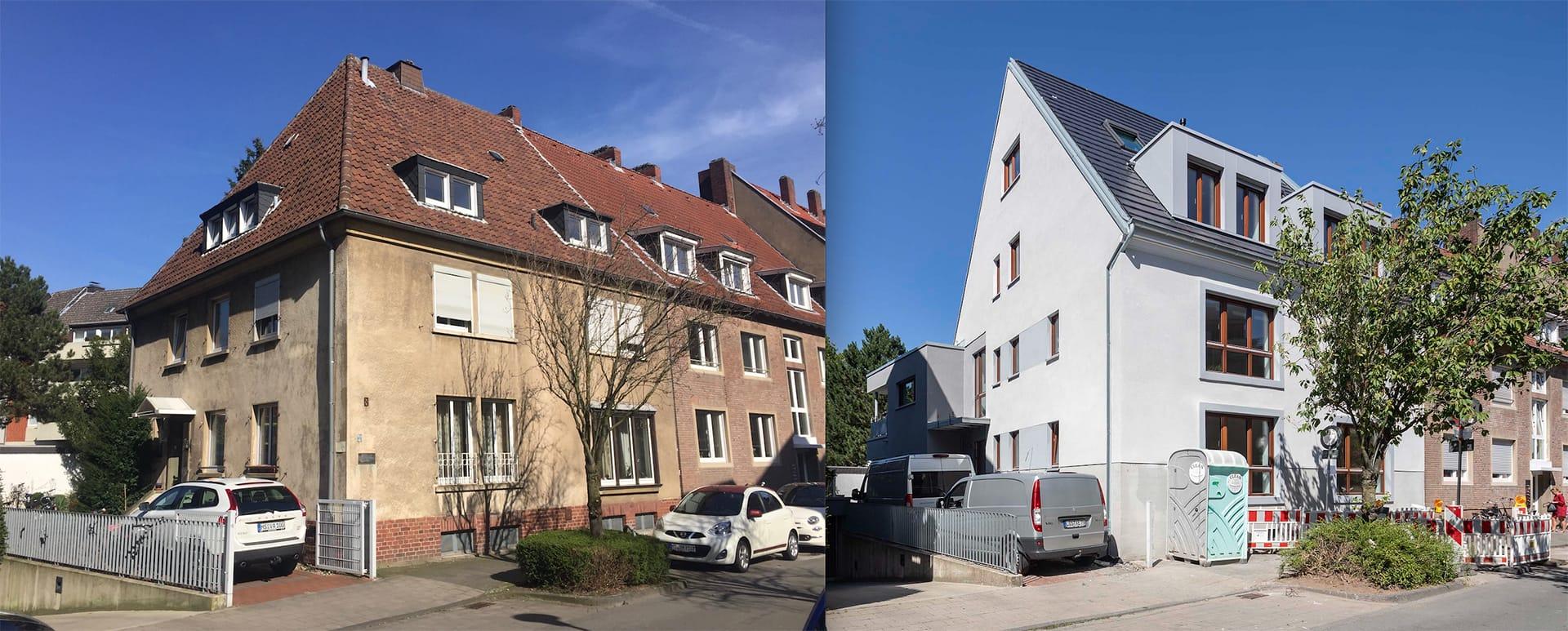 Baumaßnahme RvL8 – Kernsanierung eines 50iger Jahre Mehrfamilienhauses in Münsters Kreuzviertel